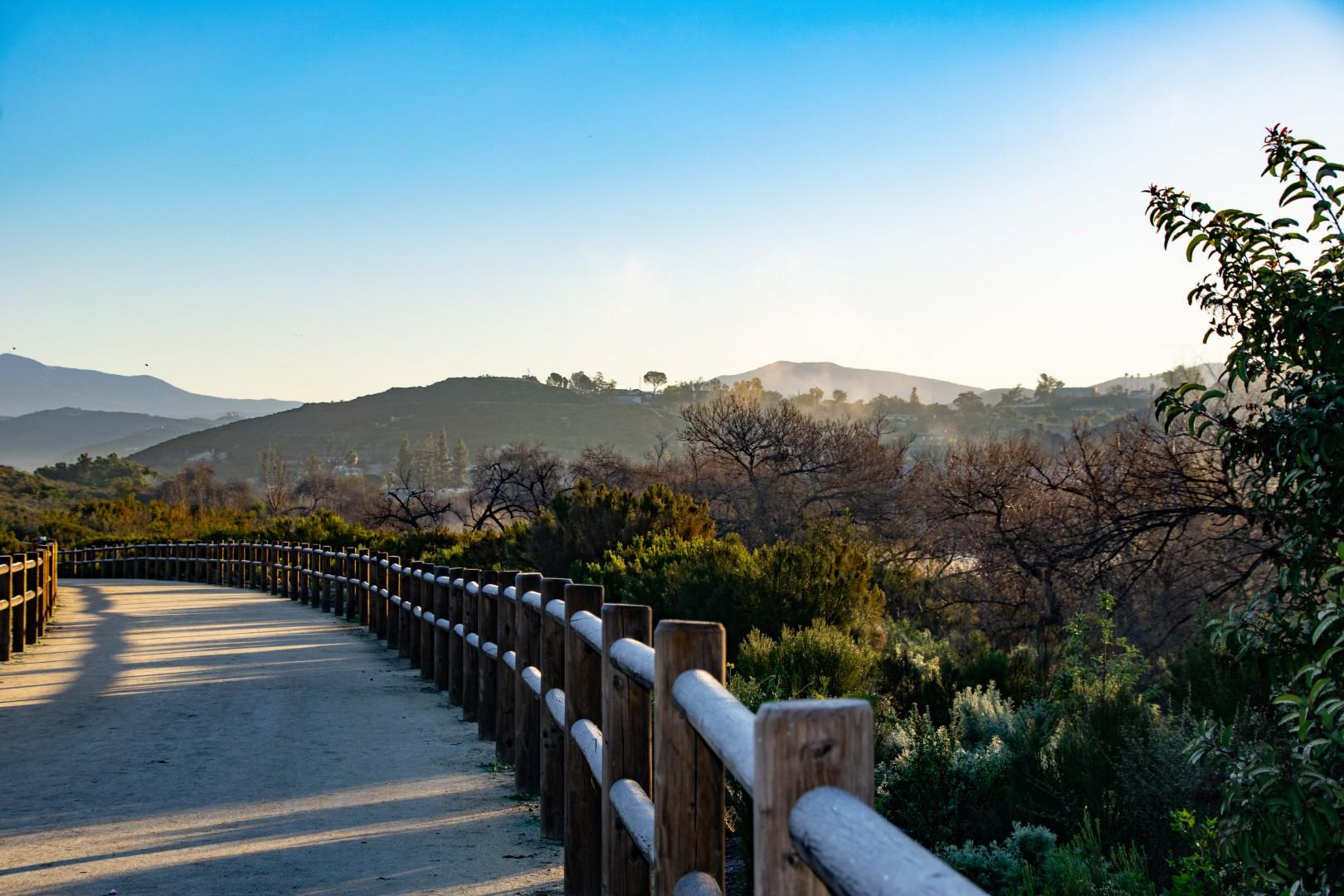 Mountain view scenery in El Cajon County California