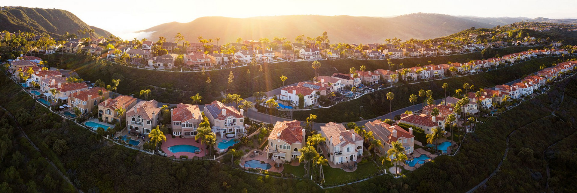 Top view of townhouse in Laguna Niiguel County California