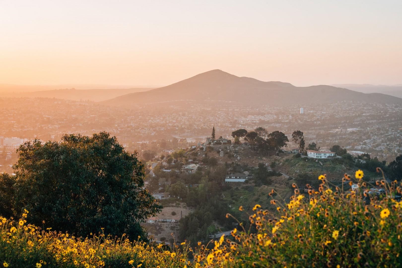 Mountain top view in Mira Mesa County California