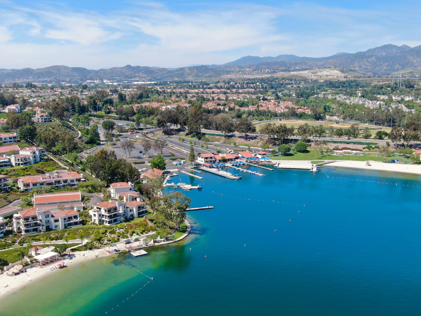 Beach plain top view located in Mission Viejo County California