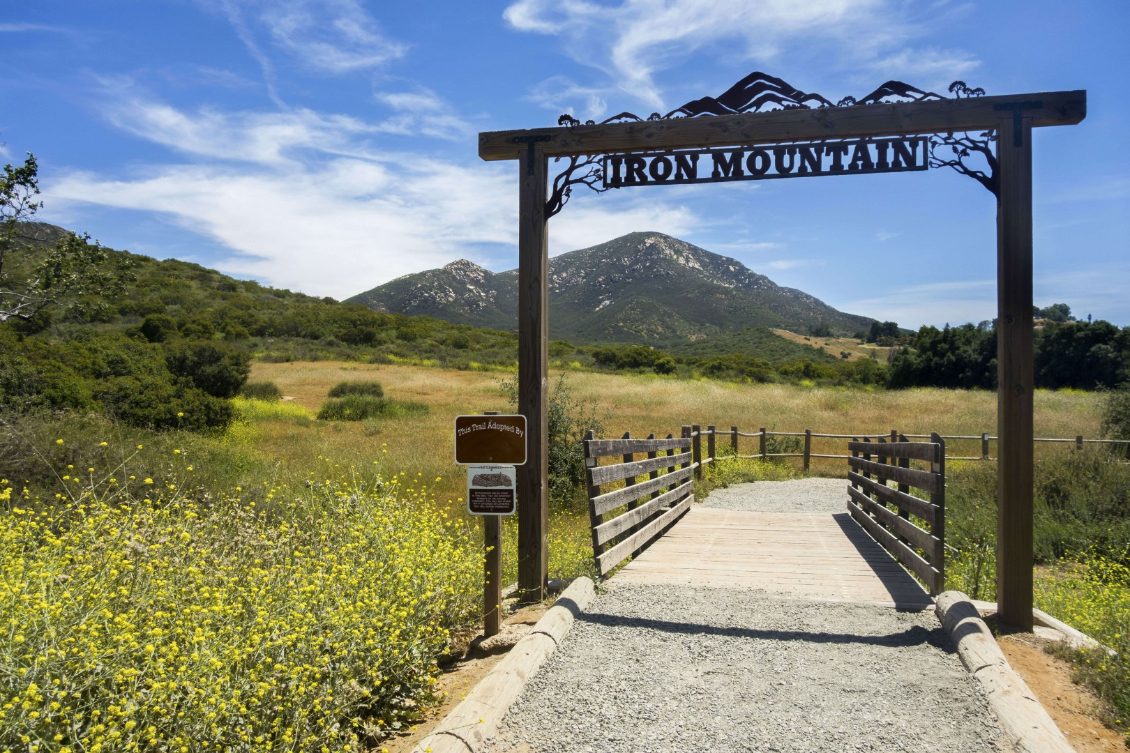 Iron Mountain Trail located in Poway County California
