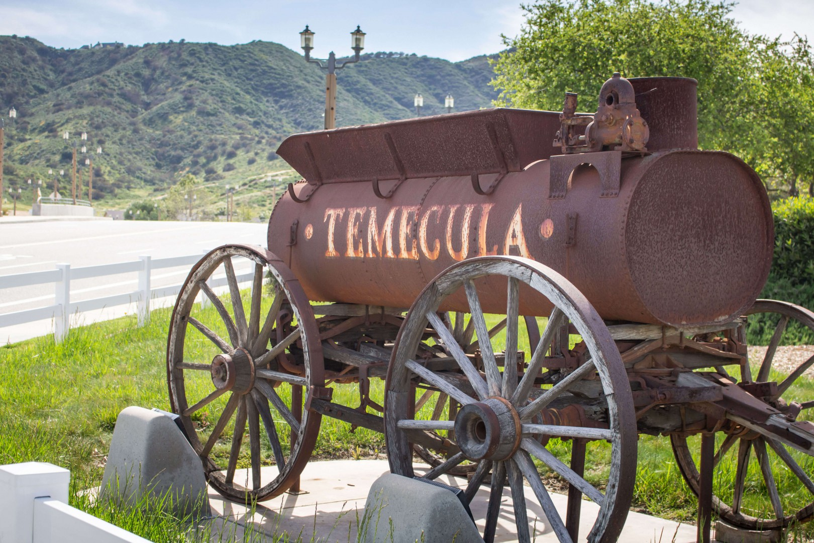 Chariot statue in Temecula County California